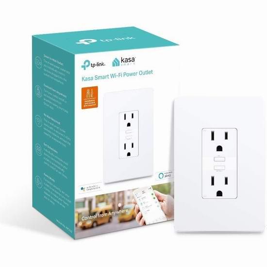 历史新低!TP-Link Kasa KP200 WiFi智能墙面插座5折 19.98加元!