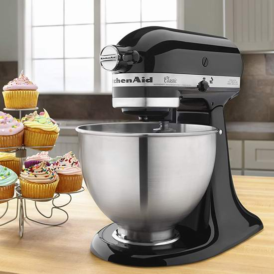 KitchenAid K45SSOB 4.5夸脱 经典系列立式 多功能搅拌厨师机6.3折 269加元包邮!2色可选!