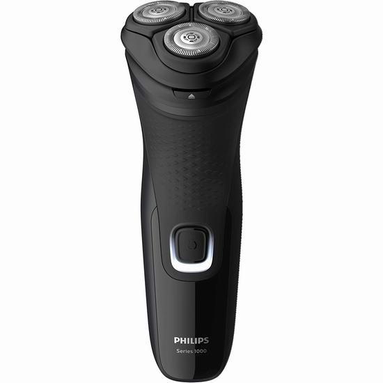 历史最低价!Philips 飞利浦 S1232/41 Series 1000 4D三刀头 全身水洗 电动剃须刀 34.96加元!