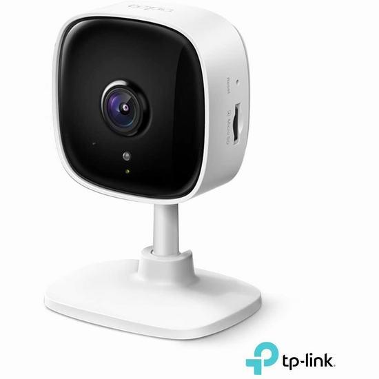 历史最低价!新品 TP-Link Tapo C100 WiFi 1080P全高清 家用智能监控摄像头 29.99加元!