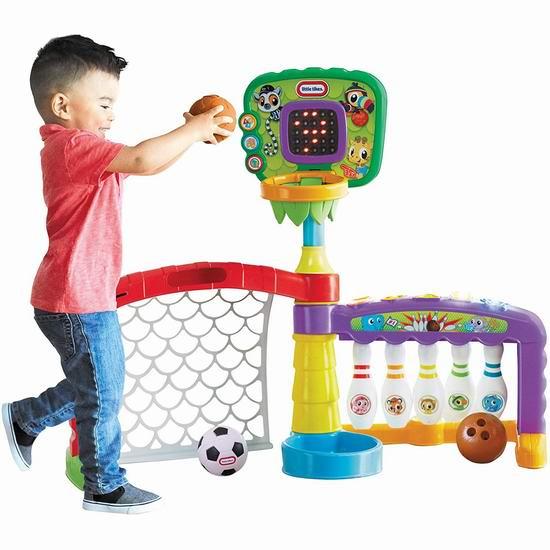 历史最低价!Little Tikes 小泰克 Sports Zone 三合一 健身又益智 宝宝球门玩具套装5折 49.97加元包邮!
