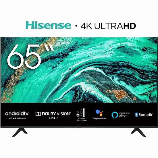 新品 Hisense 海信 65H78G 65英寸/70英寸 AI场景 4K超高清LED智能电视 635-748加元包邮!
