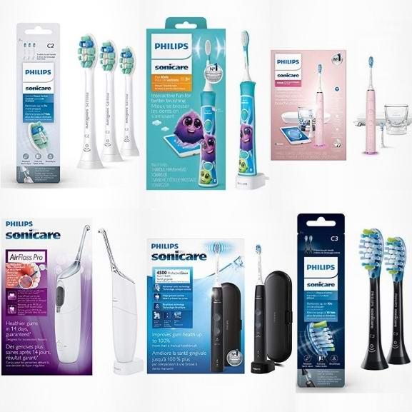 精选多款 Philips 飞利浦 Sonicare 声波震动 电动牙刷/水牙线/替换刷头等6.5折起!