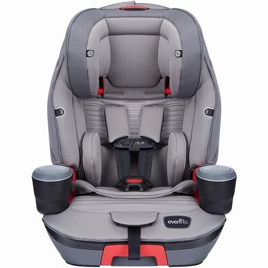 历史新低!Evenflo 34412066C Evolve 三合一 成长型 儿童汽车安全座椅6.5折 150加元包邮!