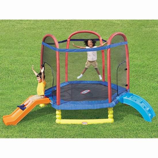折扣升级!Little Tikes 小泰克 7英尺 带保护罩/滑梯 儿童蹦床5.1折 356.55加元包邮!