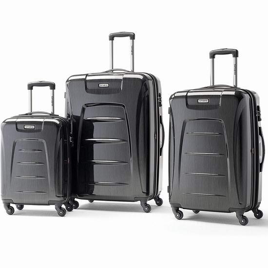 历史新低!Samsonite 新秀丽 Winfield 3 21/27/30英寸 全PC轻质 时尚行李箱3件套3.1折 216.5加元包邮!