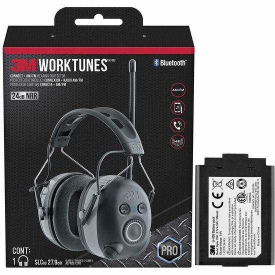 网购周头条:历史新低!3M Worktunes 无线蓝牙降噪隔音耳机+充电电池套装 98.75加元包邮!