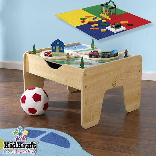 KidKraft 二合一 Lego积木+火车轨道 儿童游戏桌 109.99加元包邮!配备积木!