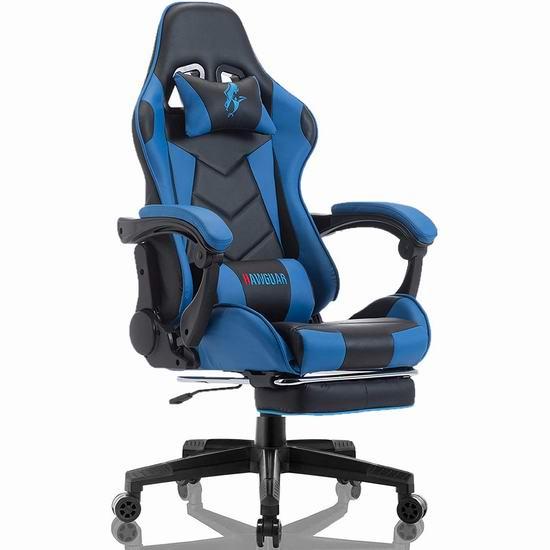 HAWGUAR 人体工学 高靠背赛车办公椅/游戏椅 169.99加元限量特卖并包邮!2色可选!