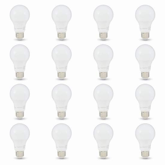 AmazonBasics A19 60瓦等效 LED节能灯16件套 24.77加元!