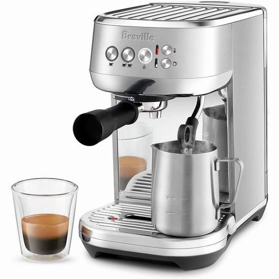 Breville BES500BSS Bambino Plus Compact 意式浓缩咖啡机 399.99加元包邮!