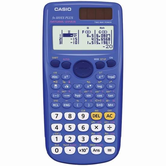 历史新低!Casio 卡西欧 FX300ES Plus 太阳能科学计算器5折 10加元!2色可选!