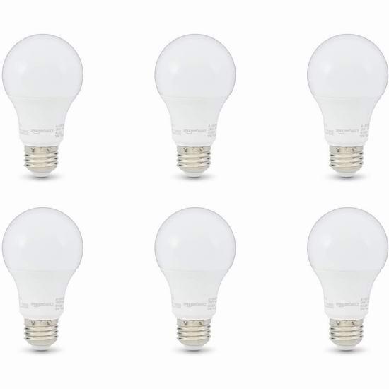 历史新低!AmazonBasics A19 60瓦等效 日光色 LED节能灯6件套 12.56加元!