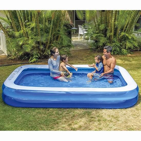 Jilong 矩形充气戏水游泳池 59.95加元包邮!