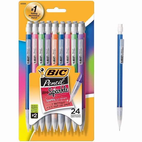 Bic Matic Shimmers 自动铅笔24支超值装5.97加元