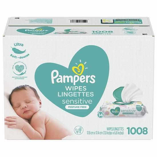 Pampers 帮宝适 敏感 婴幼儿湿巾纸(1008抽) 20.98加元!