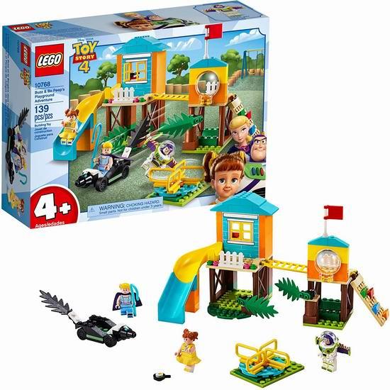 历史最低价!LEGO 乐高 10768 玩具总动员4:巴斯光年和牧羊女的游乐园探险(139pcs)6.9折 24加元!
