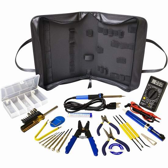白菜价!历史新低!Elenco Deluxe 电子产品维修工具32件套2折 20.86加元清仓!