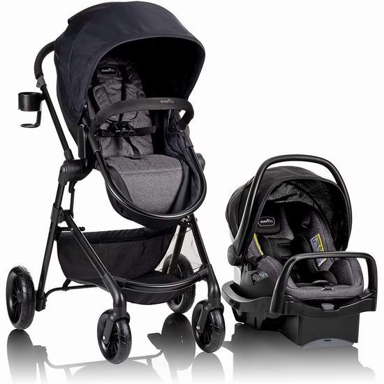 Evenflo Pivot Modular 高景观婴儿推车+提篮安全座椅旅行套装 339.99加元包邮!