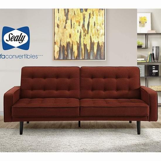 历史新低!Sealy Jackson Splitback 超舒适布艺沙发床3.1折 310.65加元包邮!4款可选!