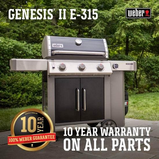 历史新低!Weber GENESIS II E-315 BBQ燃气烧烤炉 988加元包邮!
