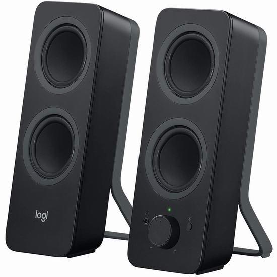 历史最低价!Logitech 罗技 Z207 2.0声道 桌面蓝牙音箱6.7折 39.99加元包邮!