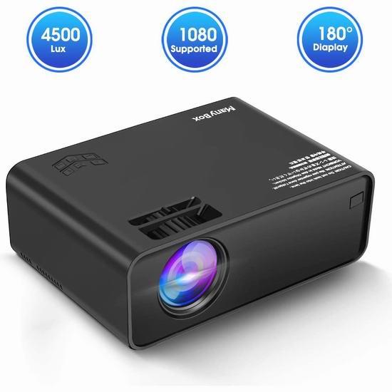 历史新低!Manybox 3500流明 家庭影院LED高清投影仪 94.03加元包邮!
