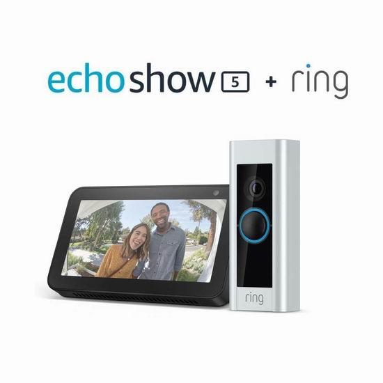 必抢单品:历史新低!Ring Pro 第二代 1080P全高清 广视角 WiFi可视智能门铃5折 199.99加元包邮!送价值99.99加元Echo Show 5智能显示器!会员专享!