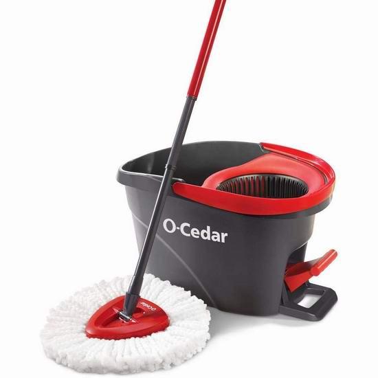 O-Cedar EasyWring 脚踏式旋转拖把套装 32.97加元!