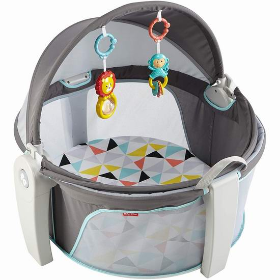Fisher-Price 费雪 On-The-Go 便携式二合一 婴儿睡眠/玩乐围栏 74.97加元包邮!