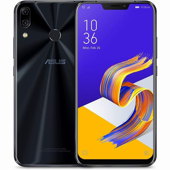 历史新低!Asus 华硕 ZenFone 5Z ZS620KL-S845-6G64G 6.2英寸 双卡双待 解锁版智能手机(6GB/64GB)5.4折 432.76加元包邮!
