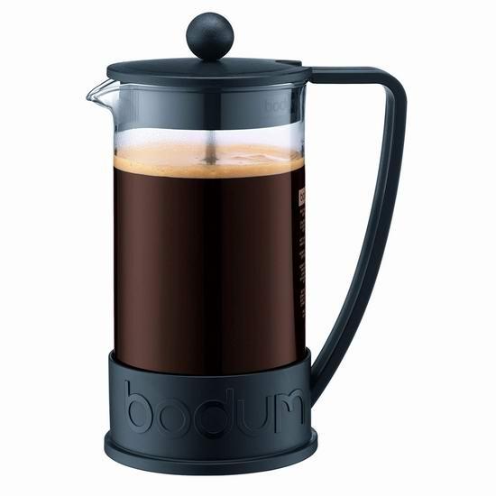 Bodum Brazil 1升(8杯量) 法式压滤咖啡壶5.8折 20.25加元!