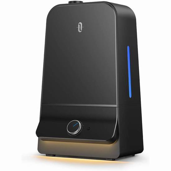 TaoTronics 6升大容量超声波雾化加湿器 64.59加元限量特卖包邮!
