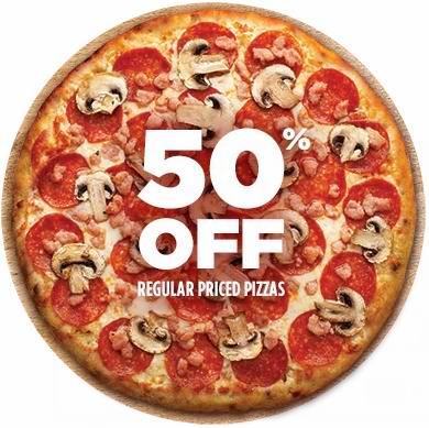 Pizza Pizza披萨全场5折,仅限公民日(8月3日)!