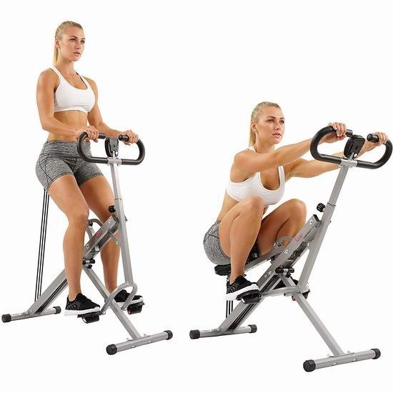Sunny Health & Fitness Row-N-Ride NO. 077 辅助锻炼健身瘦身 深蹲翘臀机 105.97加元包邮!