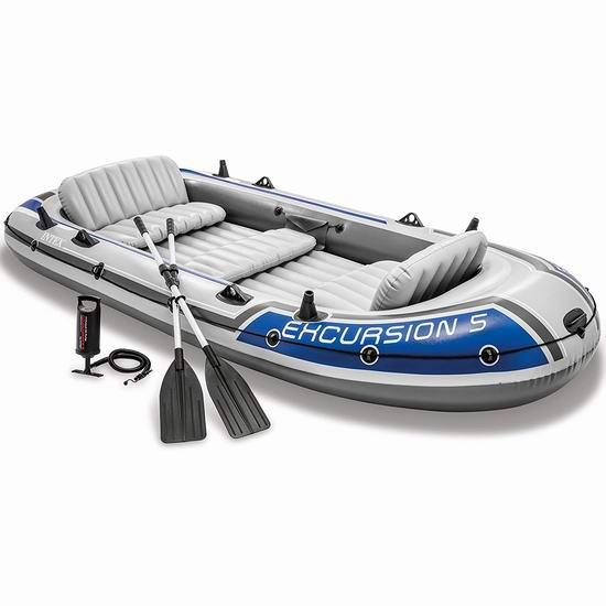 Intex Excursion 5人坐充气船/橡皮艇/钓鱼船 196.65加元包邮!