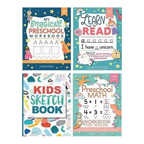 Modern Kid Press 学前儿童系列 英语、数学、绘画、手工等辅导书/练习册4.86加元起热卖中!