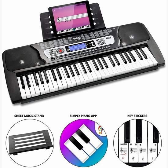 RockJam RJ654 54键电子琴 80.25加元包邮!提升智力,激发创造力!
