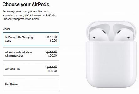 Apple苹果官网返校季大促!指定款iPad、MacBook笔记本、iMac一体机等特价销售+送AirPods耳机!支持以旧换新!