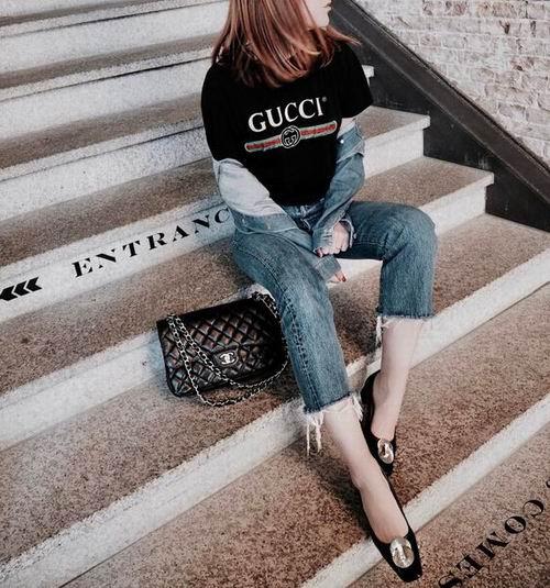 Gucci 女士 Vintage Logo 百搭款T恤 505加元,原价 699加元,包邮