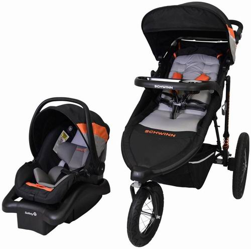 Schwinn 01137CEHC Interval慢跑式婴儿车+提篮套装 7.4折 339.97加元,原价 459.99加元,包邮