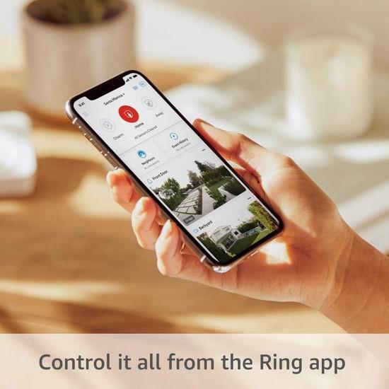 第二代 All-new Ring Alarm 专业家庭全屋安防监控系统5/8/14件套 219.99-369.99加元包邮!送价值69.99加元Echo Dot智能音箱!