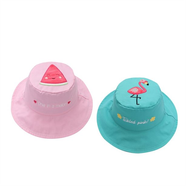FlapjackKids 婴幼儿女童防晒卡通双面太阳帽、披肩 7.1折 14加元起