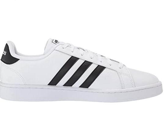 Adidas 男士三条杠Grand Court网球鞋 54加元(7/9/10码),原价 79.99加元,包邮