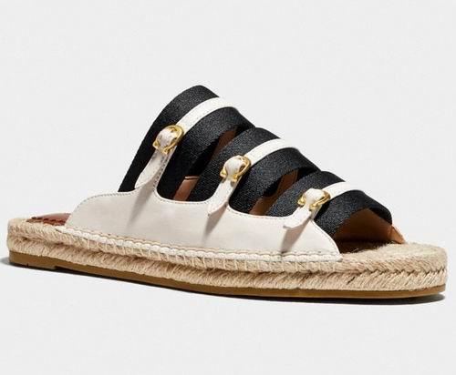 Coach Devon草编凉鞋 82.5加元(2色),原价 165加元,包邮