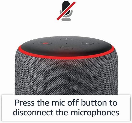 历史最低价!亚马逊 Echo 第三代智能音箱5.4折 69.99加元包邮!4色可选!