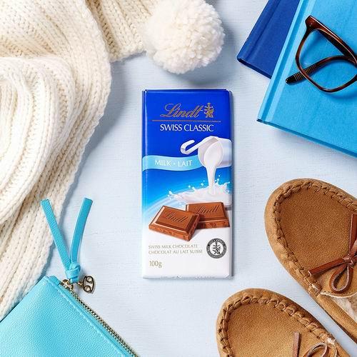 Lindt Swiss瑞士莲经典巧克力100克 1.97加元,多种味道可选