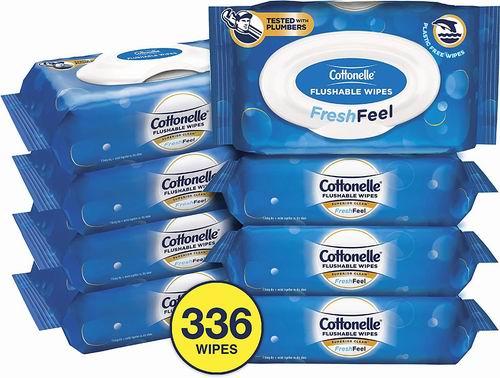 Cottonelle Fresh Care 可冲马桶湿巾纸 336片 18.75加元