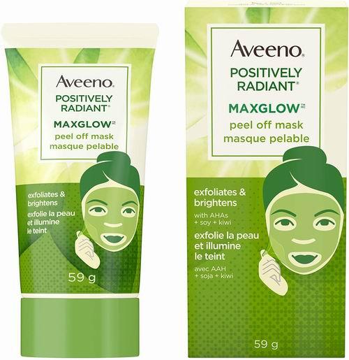 精选3款 Aveeno 去角质撕拉面膜 提亮皮肤 10.97加元,原价 12.97加元