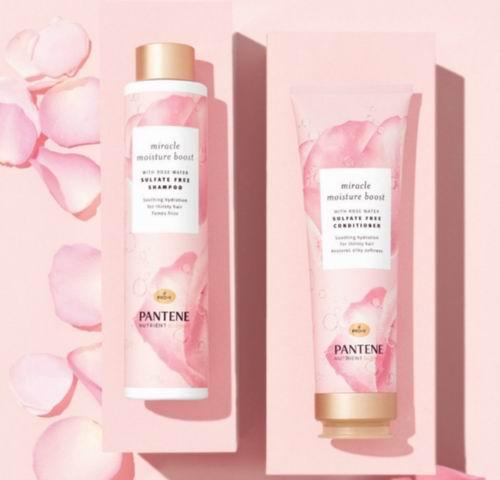 Pantene 高颜值无硅玫瑰水洗护发水、护发素 6.61加元